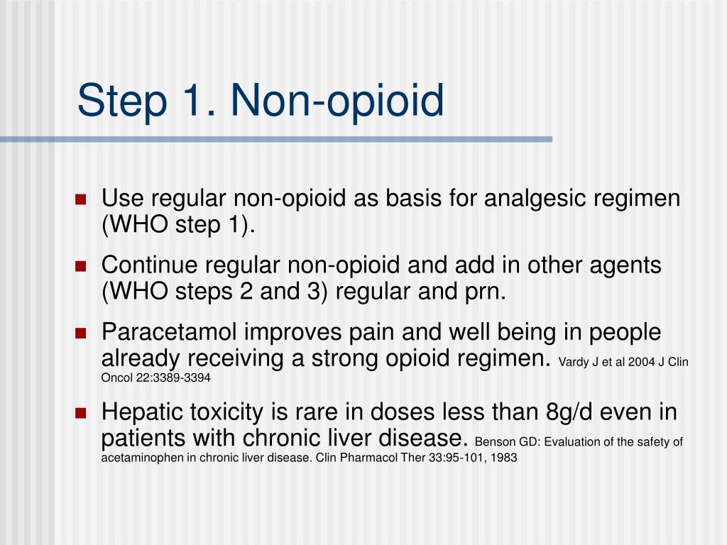 Step 1. Non-opioid