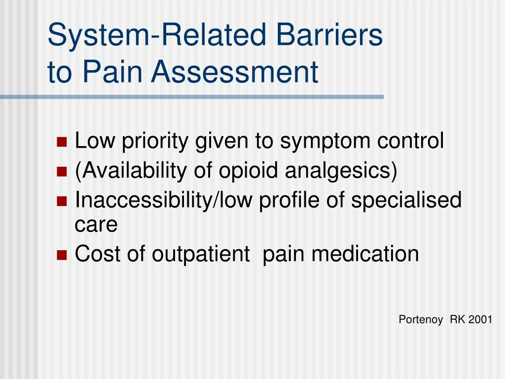 System-Related Barriers                                     to Pain Assessment