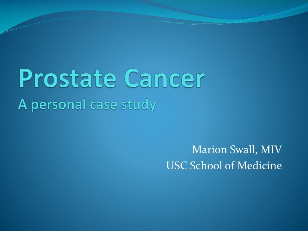 prostate cancer case studies