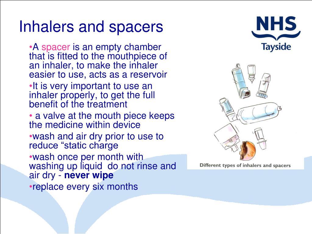 Inhalers and spacers