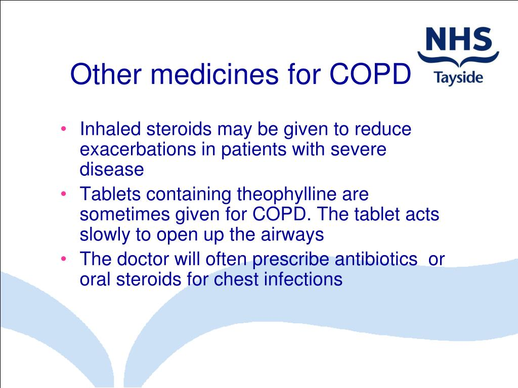Other medicines for COPD