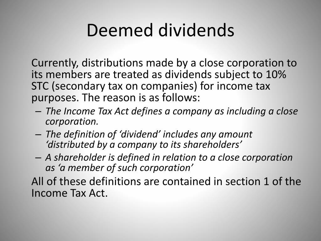 Deemed dividends