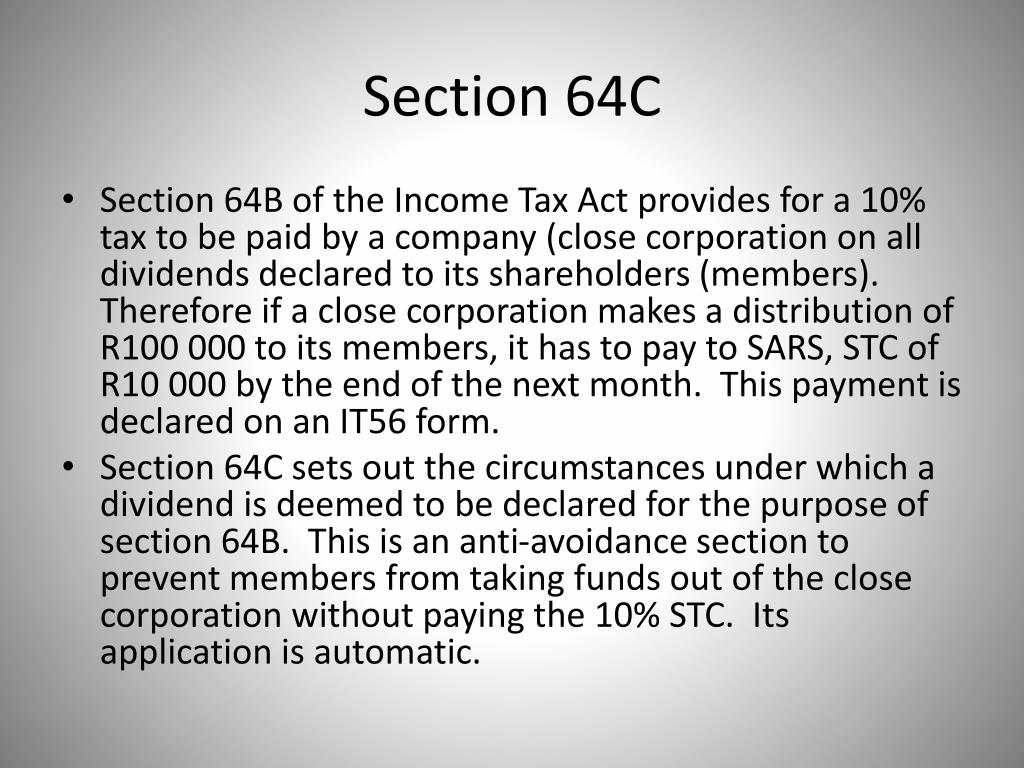 Section 64C