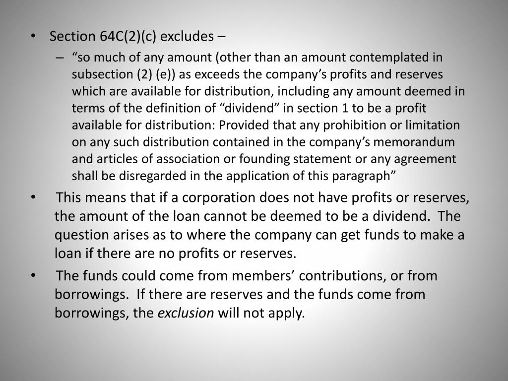 Section 64C(2)(