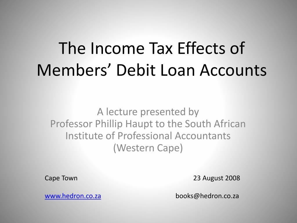 The Income Tax Effects of Members' Debit Loan Accounts