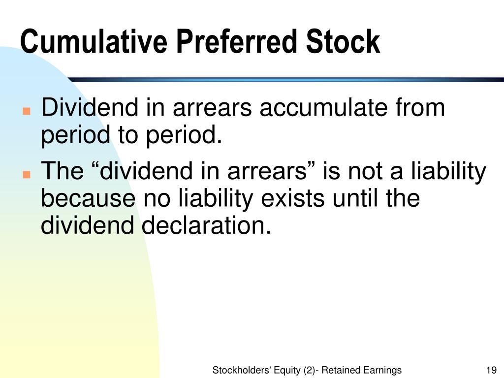 Cumulative Preferred Stock