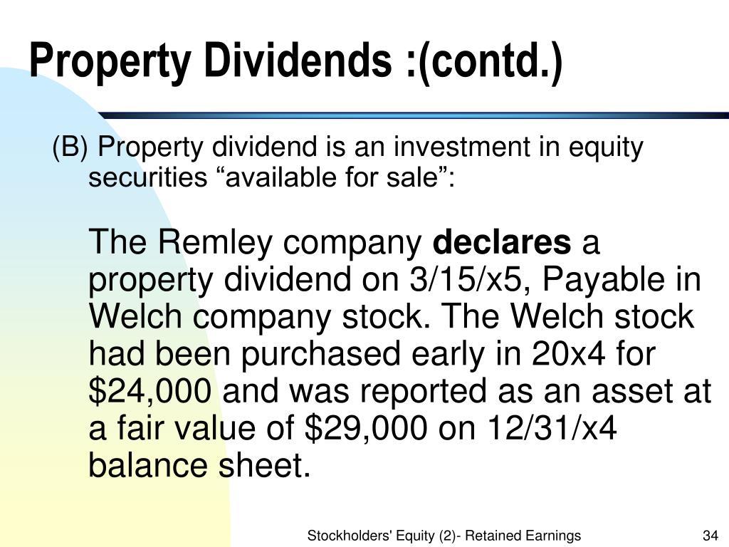 Property Dividends