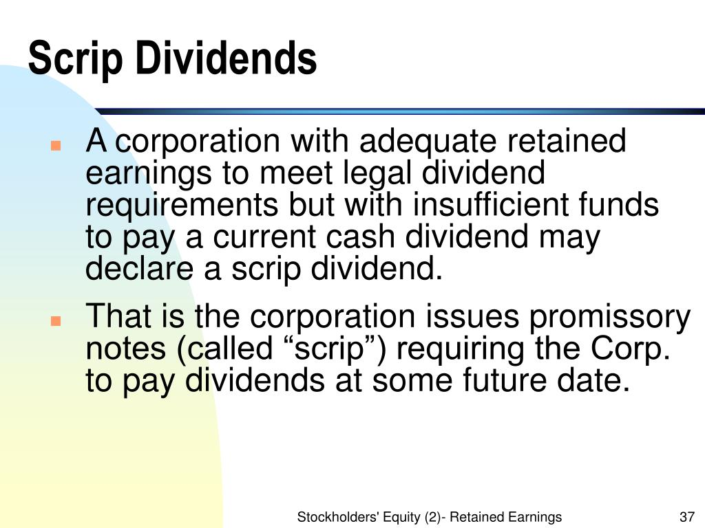 Scrip Dividends