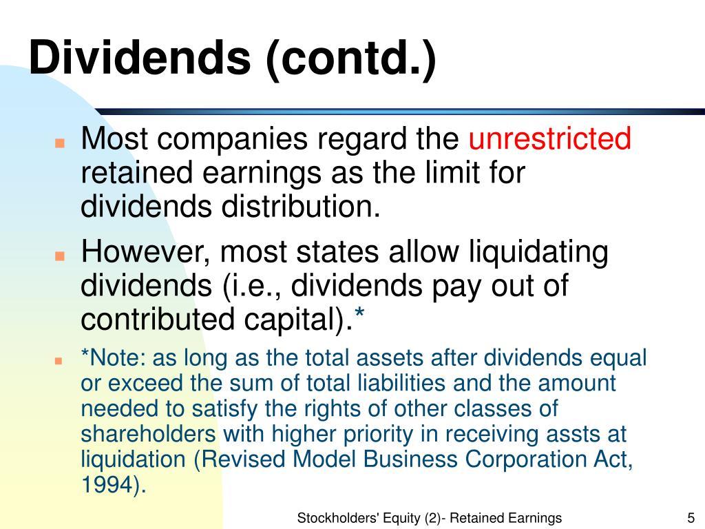 Dividends (contd.)