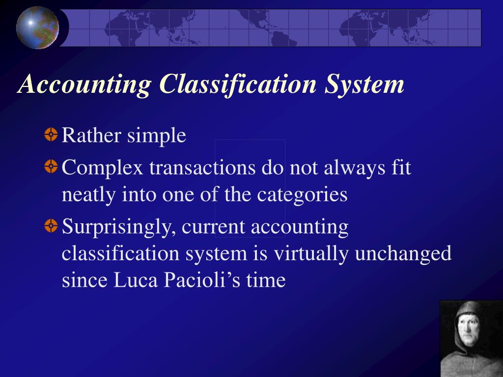 Accounting Classification System