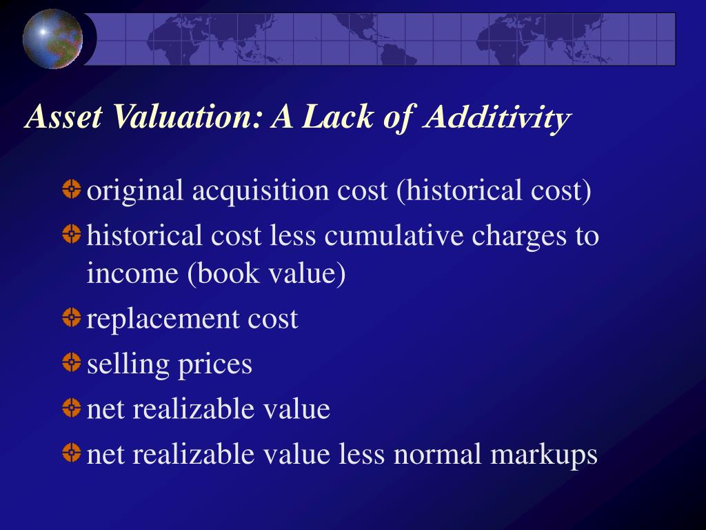 Asset Valuation: A Lack of