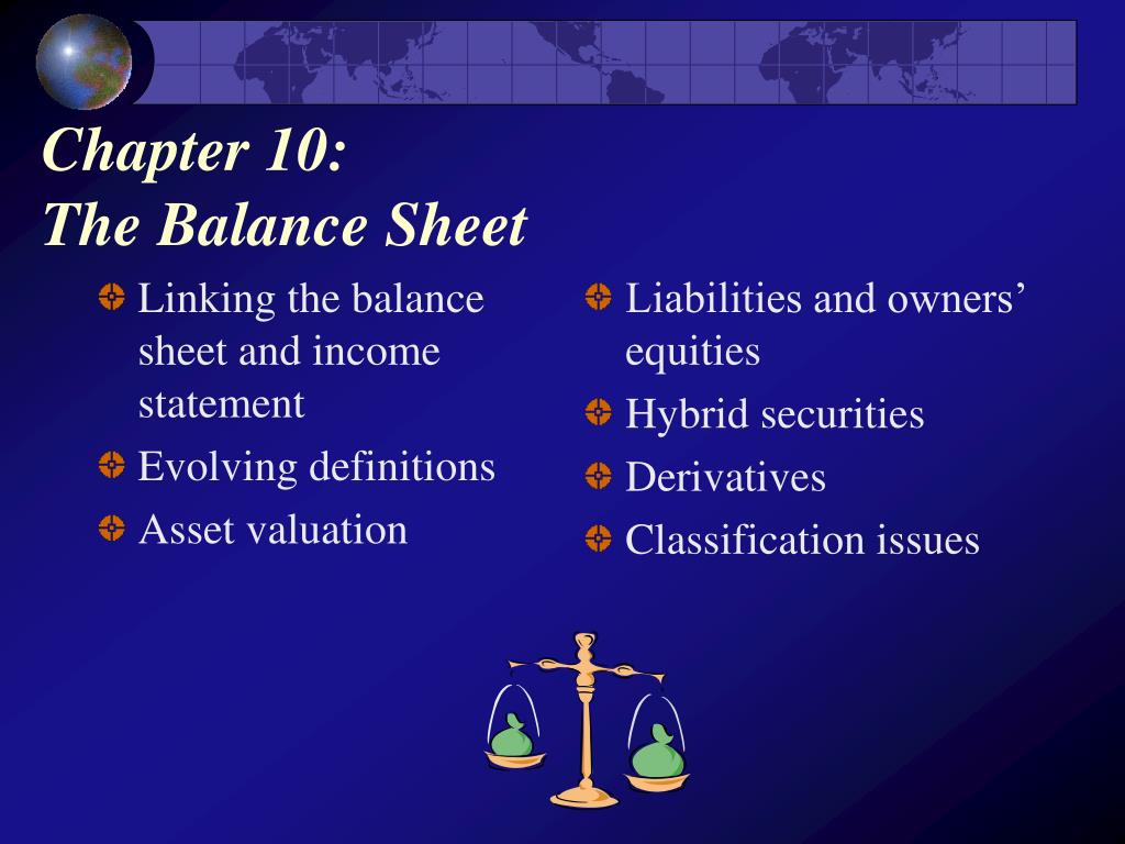 Linking the balance sheet and income statement