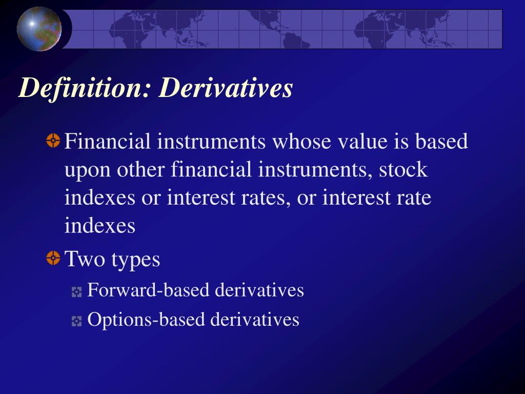 Definition: Derivatives