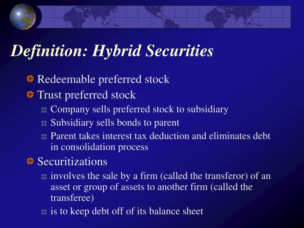 Definition: Hybrid Securities