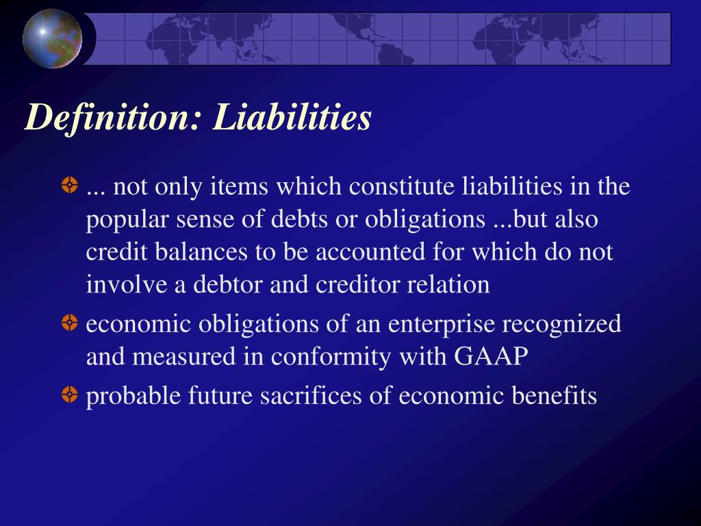 Definition: Liabilities