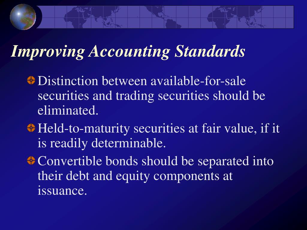 Improving Accounting Standards