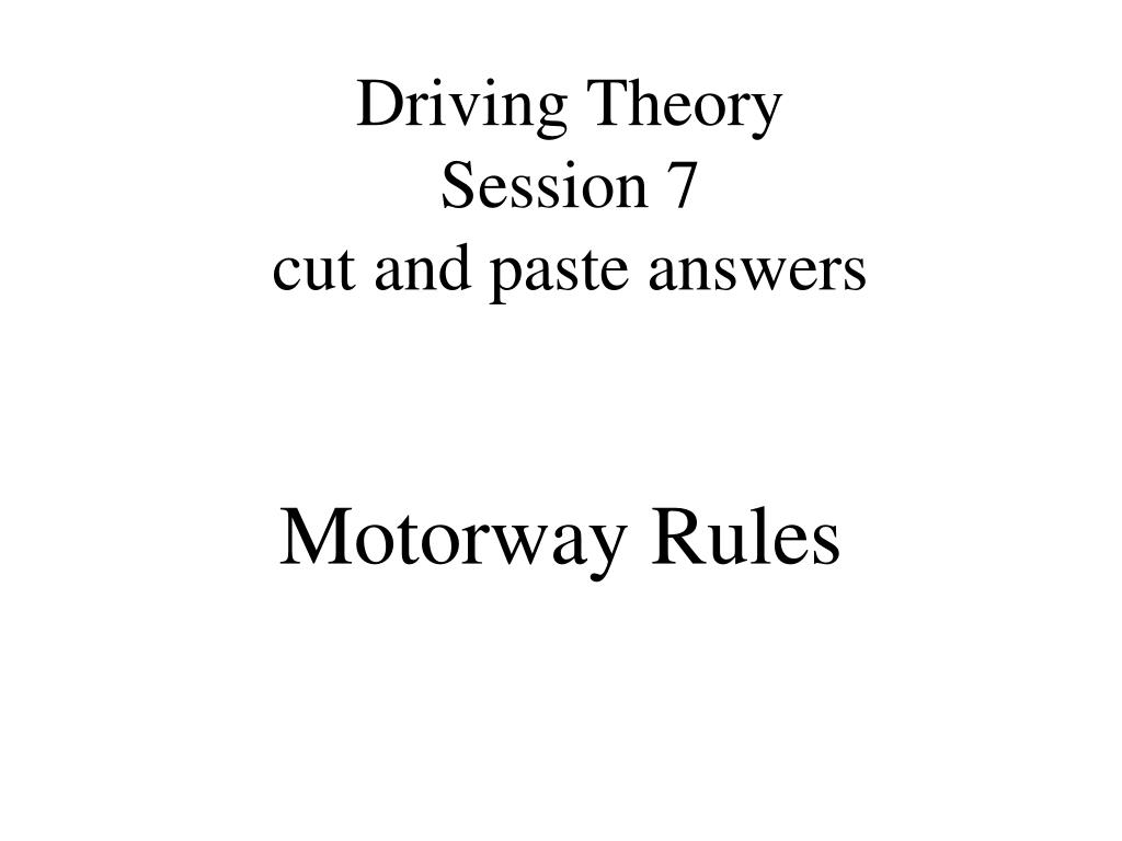 Driving Theory