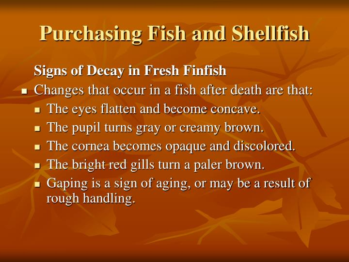 Purchasing Fish and Shellfish