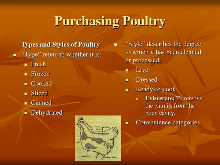 Types and Styles of Poultry