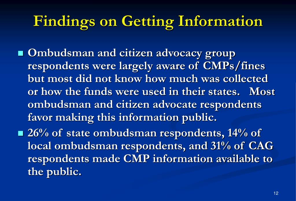 Findings on Getting Information