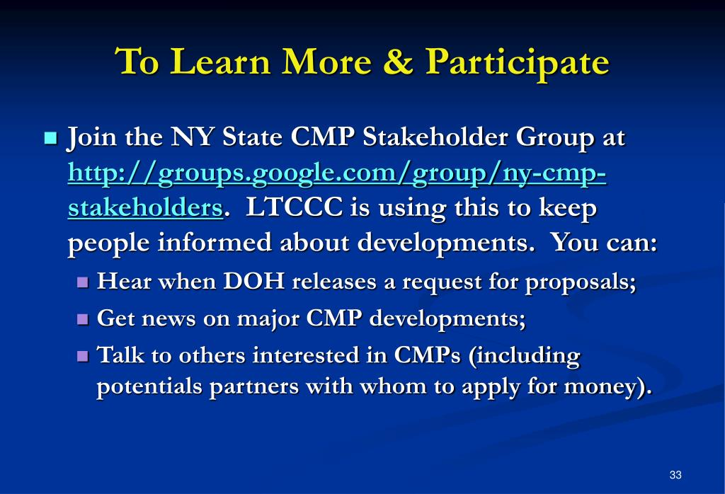 To Learn More & Participate