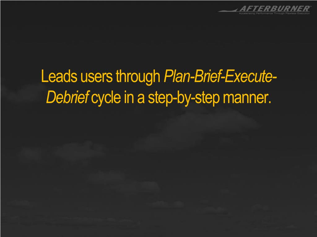 Leads users through