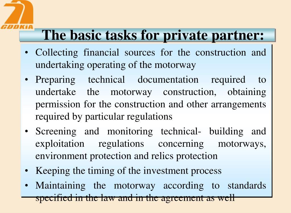 The basic tasks for