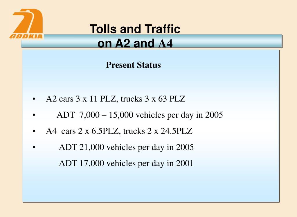 Tolls and Traffic
