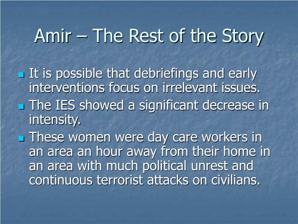 Amir – The Rest of the Story