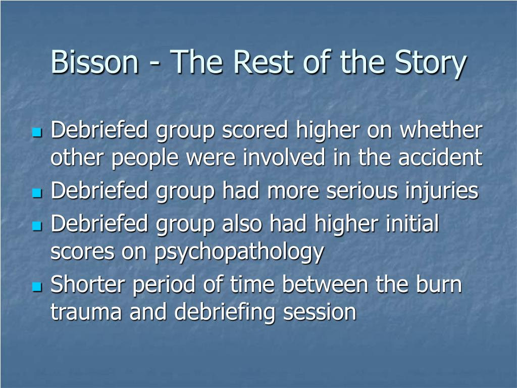 Bisson - The Rest of the Story
