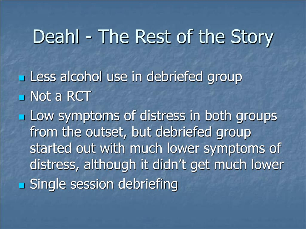 Deahl - The Rest of the Story