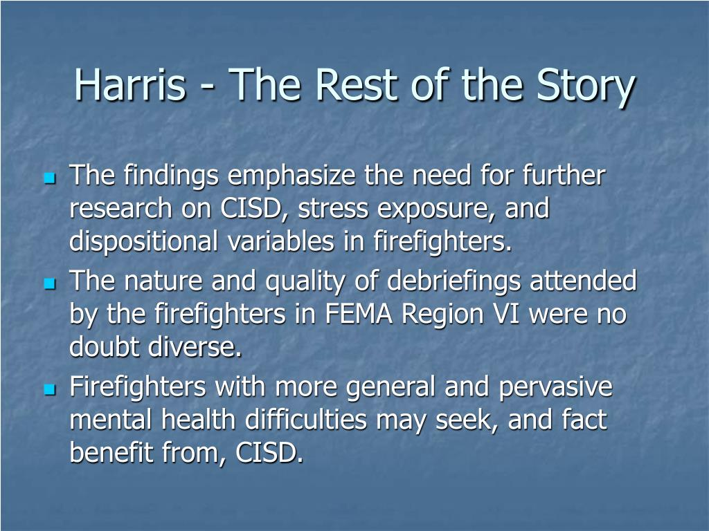 Harris - The Rest of the Story