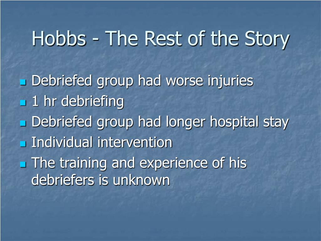 Hobbs - The Rest of the Story
