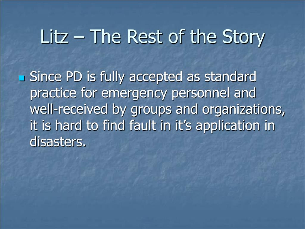 Litz – The Rest of the Story