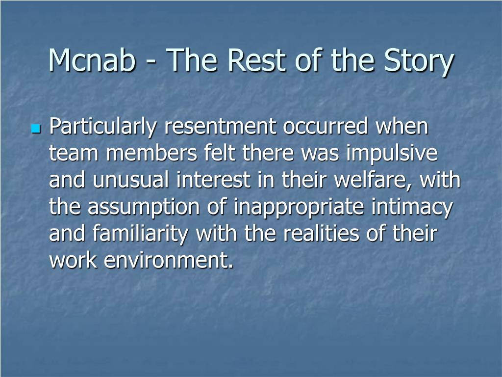 Mcnab - The Rest of the Story