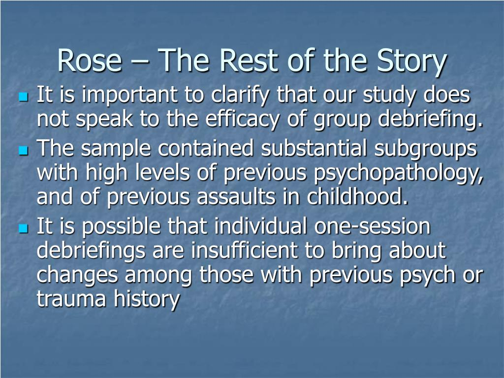 Rose – The Rest of the Story