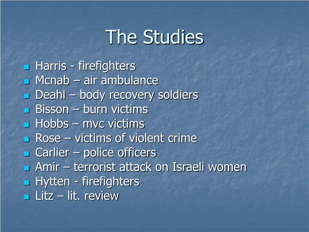 The Studies