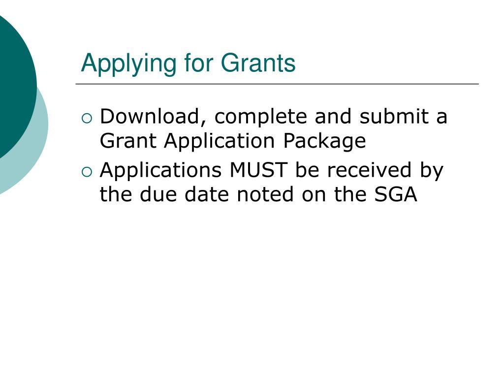 Applying for Grants