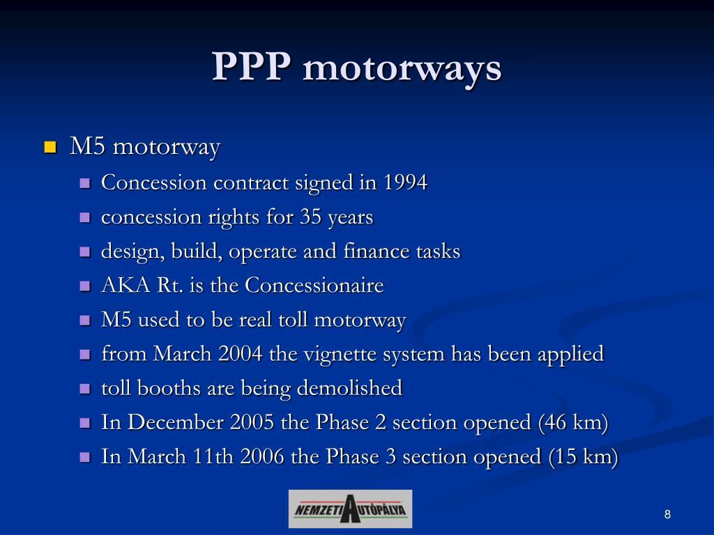 PPP motorway