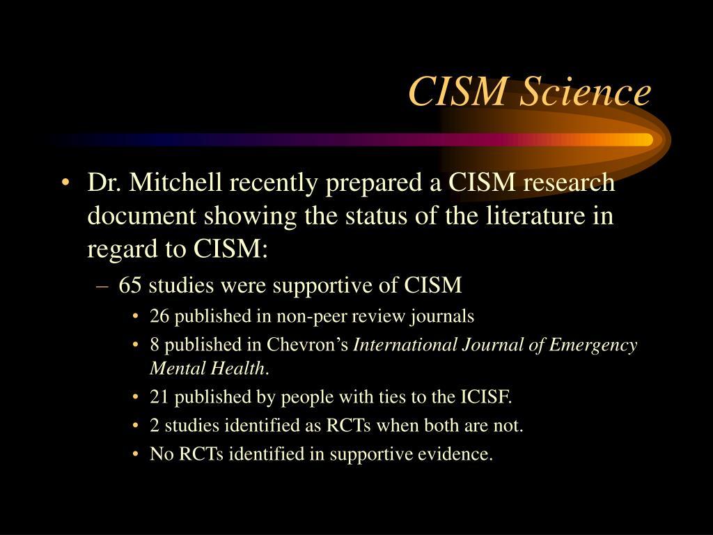 CISM Science