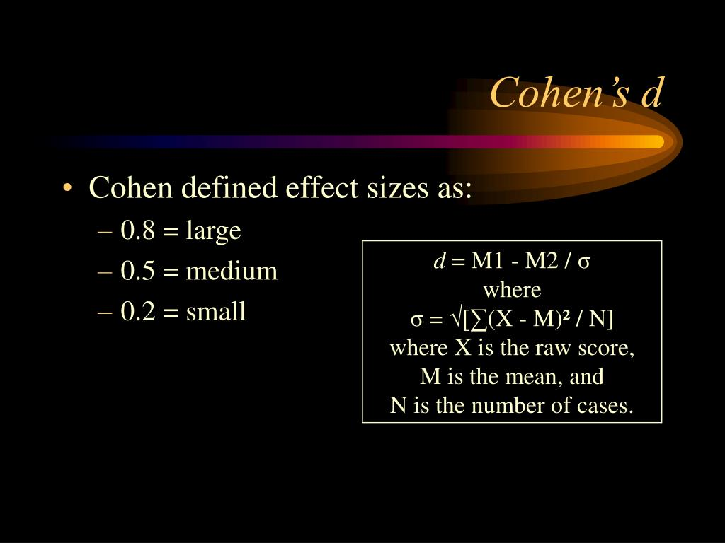 Cohen's d
