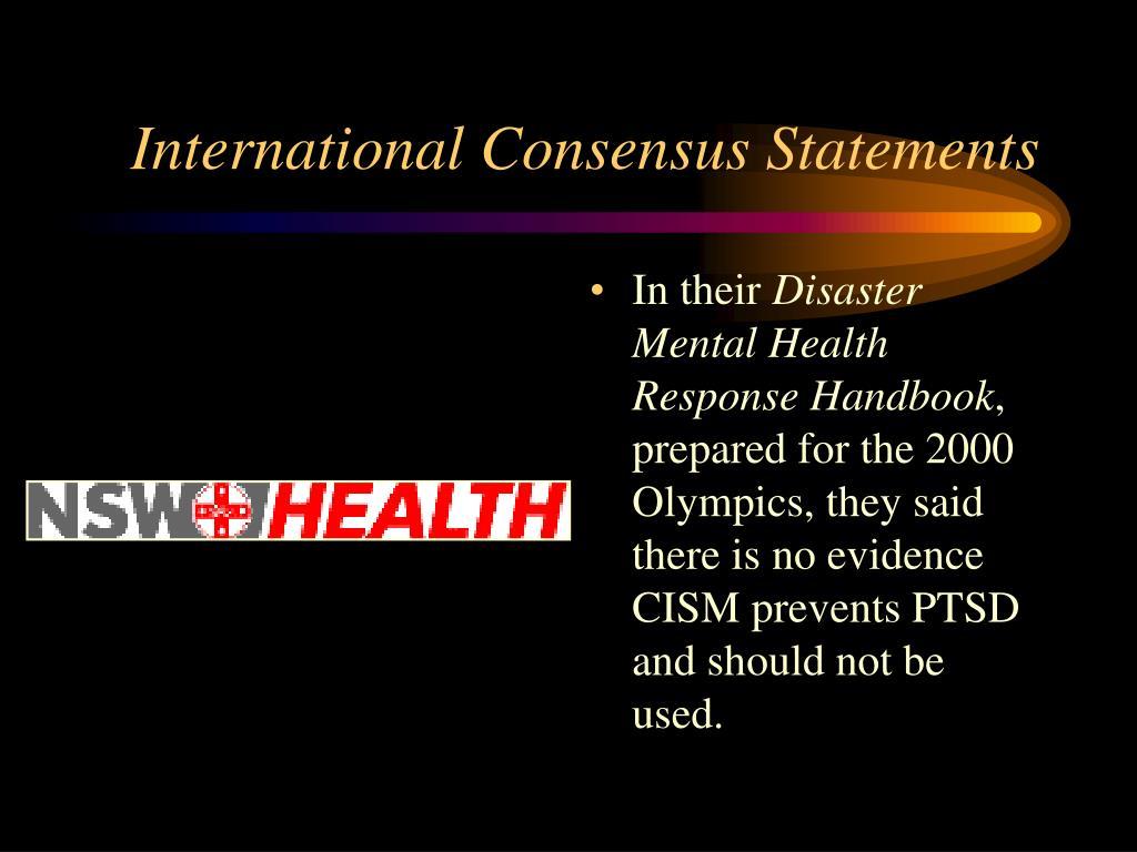 International Consensus Statements