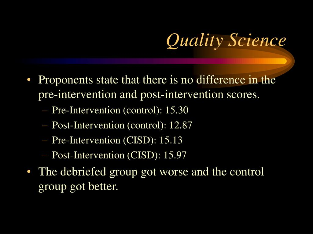 Quality Science