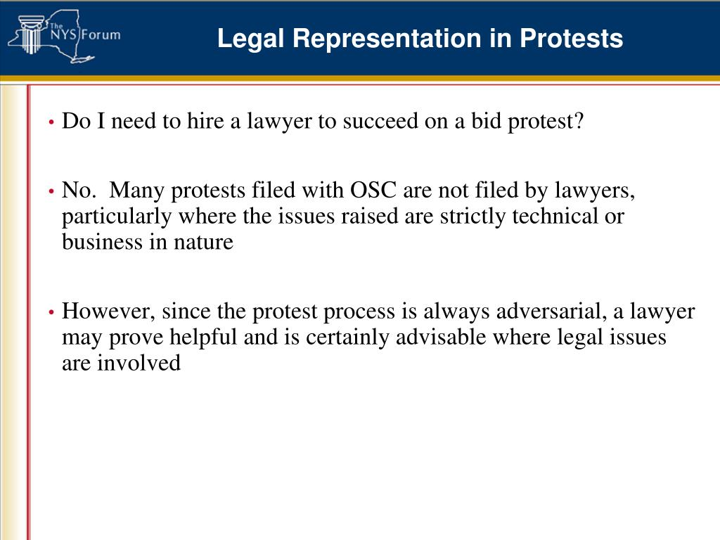 Legal Representation in Protests