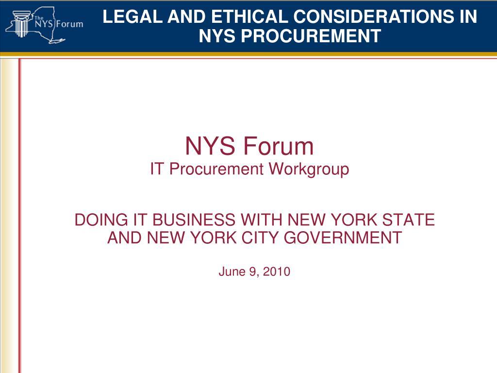 NYS Forum