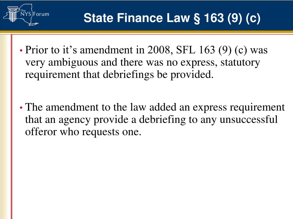 State Finance Law