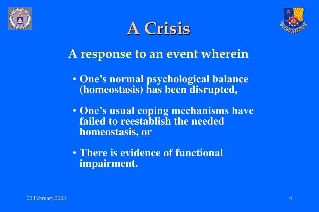 A Crisis
