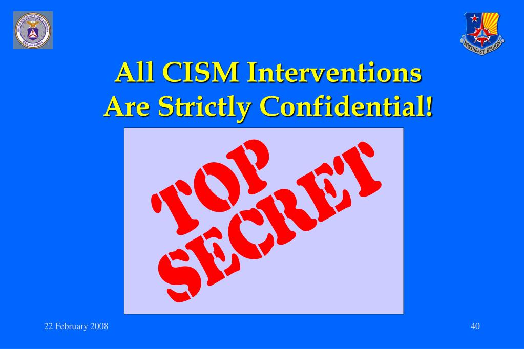 All CISM Interventions