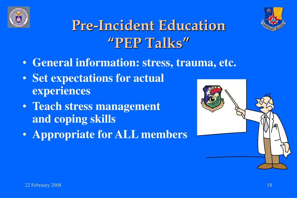 Pre-Incident Education
