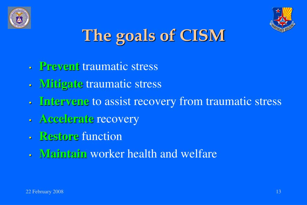 The goals of CISM